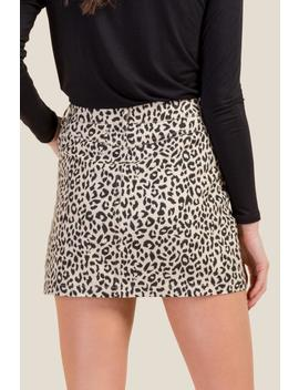 Addison Leopard Skirt by Francesca's