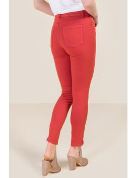 Harper Mid Rise Zipper Ankle Rose Jeans by Francesca's
