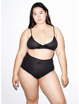Shadow Stripe Crossfront Bralette by American Apparel