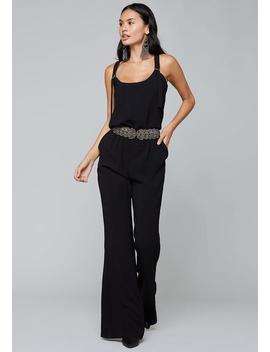 Crepe Slouchy Overalls by Bebe