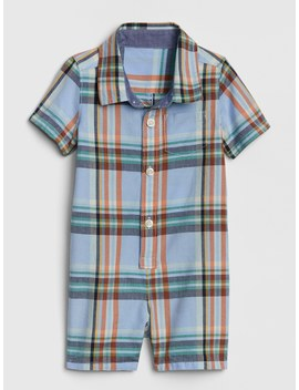 Plaid Shorty One Piece by Gap