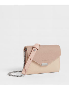 Captain Leather Chain Cardholder by Allsaints