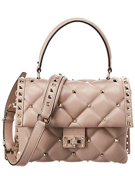Valentino Candystud Quilted Leather Top Handle Shoulder Bag by Valentino