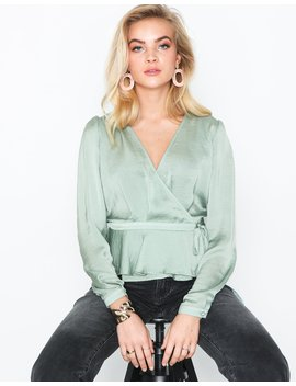 Lovely Wrap Blouse by Nly Trend