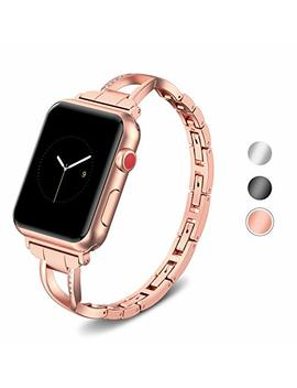 Supersun Cinturino Apple Watch 42 Mm Serie 3, Oro Cinturino Per Apple Watch 42 Donna Per Apple Watch Serie 4 44mm, Bracciale Per Apple Watch Serie 3/2/1 by Supersun