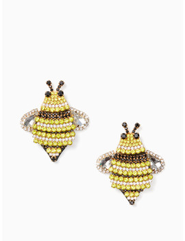 Picnic Perfect Jeweled Bee Statement Studs by Kate Spade