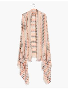 Stitched Rainbow Stripe Scarf by Madewell