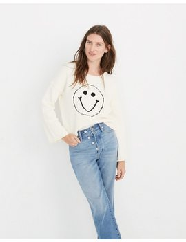 Brownstone Smiley Face Pullover Sweater by Madewell