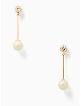 Lady Marmalade Linear Pearl Earrings by Kate Spade