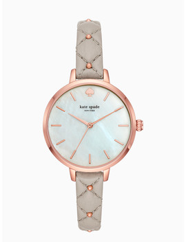 Metro Stud Grey Quilted Strap by Kate Spade