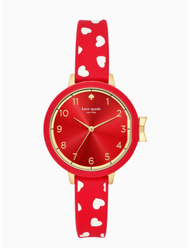 Park Row Scattered Hearts Silicone Watch by Kate Spade