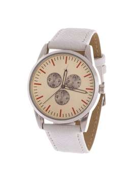 Xtreme Men's Silver Case And Dial / White Canvas Strap Watch by Xtreme