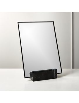 "Gaze Black Marble Vanity Mirror 10.25""X14.5"" by Crate&Barrel"
