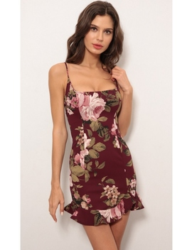 Monroe Ruffle Dress In Floral Print by Lucy In The Sky