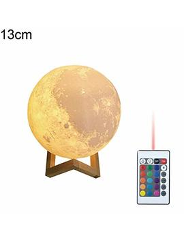 Display08 Moon Ricaricabile, Stampa 3 D A Led Notte Luce Telecomando Home Decor 13cm by Display08