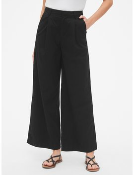High Rise Pleated Wide Leg Khakis by Gap