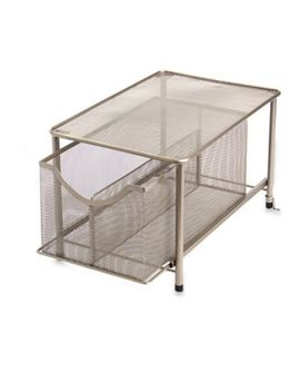 .Org Large Under The Sink Mesh Slide Out Cabinet Drawer With Shelf In Bronze by Bed Bath And Beyond