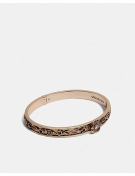 Tea Rose Hinged Bangle by Coach