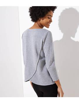 Flecked Crossover Back Sweatshirt by Loft