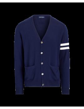 Merino Wool V Neck Cardigan by Ralph Lauren