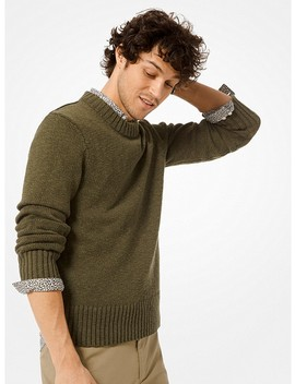 Cotton And Linen Pullover by Michael Kors Mens