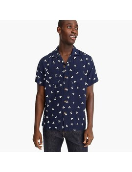 Short Sleeve Printed Camp Collar Shirt by J.Crew