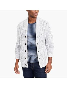 Chunky Cardigan Sweater In Marled Cotton by J.Crew