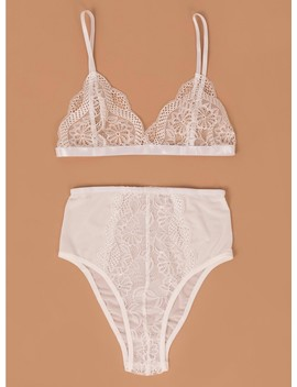 The Alary Lingerie Set White by Princess Polly