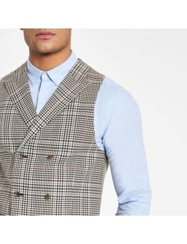 Brown Heritage Check Suit Vest                      Brown Heritage Check Skinny Suit Jacket                  Brown Heritage Check Skinny Fit Suit Pant by River Island