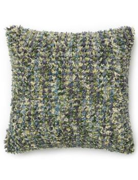 Loloi Striped Woven Square Down Throw Pillow In Green/Plum by Bed Bath And Beyond