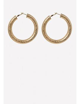 Thick Hoop Earrings by Bebe