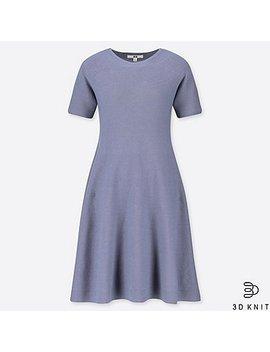 Women 3 D Cotton Flare Short Sleeve Dress by Uniqlo