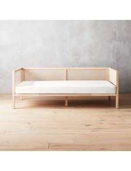 Boho Natural Daybed With Pearl White Mattress Cover by Crate&Barrel