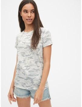 Vintage Short Sleeve Print Crewneck T Shirt by Gap