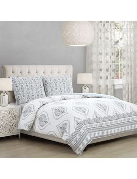 Solange King Comforter Set In White/Grey by Bed Bath And Beyond