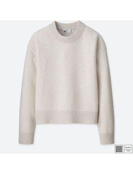 Women Uniqlo U Premium Lambswool Mock Neck Sweater by Uniqlo