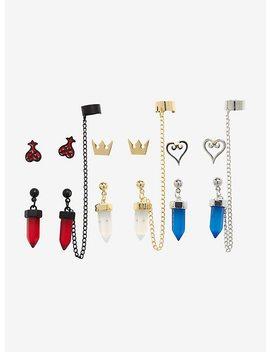 Disney Kingdom Hearts Symbols Cuff Earring Set by Hot Topic