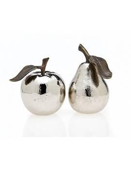 Godinger Silver Metal Apple And Pear Salt And Pepper Shaker by Godinger