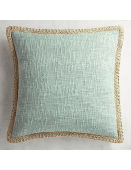 Chunky Jute Trimmed Mineral Pillow by Pier1 Imports