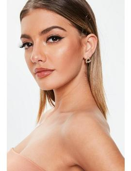 Gold Look Knot Stud Earrings by Missguided