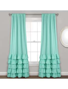 "Lush Decor 2 Pack Allison Ruffle Window Curtains   40"" X 84"" by Kohl's"