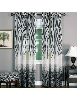 Kenya 1 Panel Sheer Window Curtain   50'' X 84'' by Kohl's