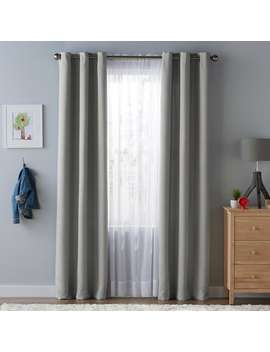 Sonoma Goods For Life™ Kids Solid Blackout 2 Pack Window Curtains by Kohl's