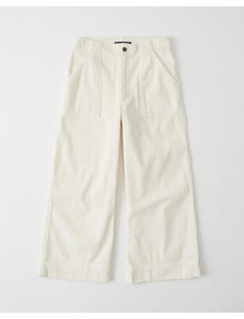 Corduroy Cropped Wide Leg Pants by Abercrombie & Fitch
