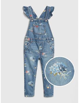 Floral Ruffle Overalls by Gap