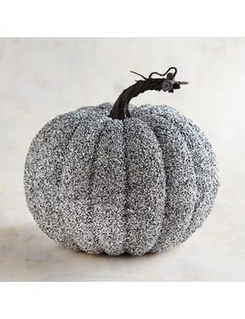 Silver Glittered Pumpkin by Pier1 Imports