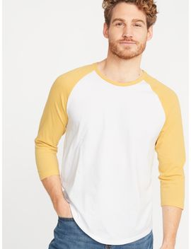 Soft Washed Color Blocked 3/4 Sleeve Tee For Men by Old Navy