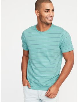 Striped Soft Washed Crew Neck Tee For Men by Old Navy