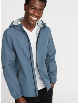 Go H20 Water Resistant Hooded Rain Jacket For Men by Old Navy