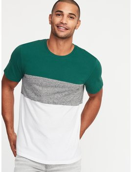 Pieced Color Block Crew Neck Tee For Men by Old Navy